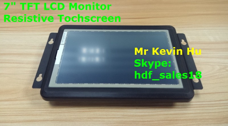 "open frame monitor, high quality 7"" resistive touchscreen monitor, for camera / medical / industrial"