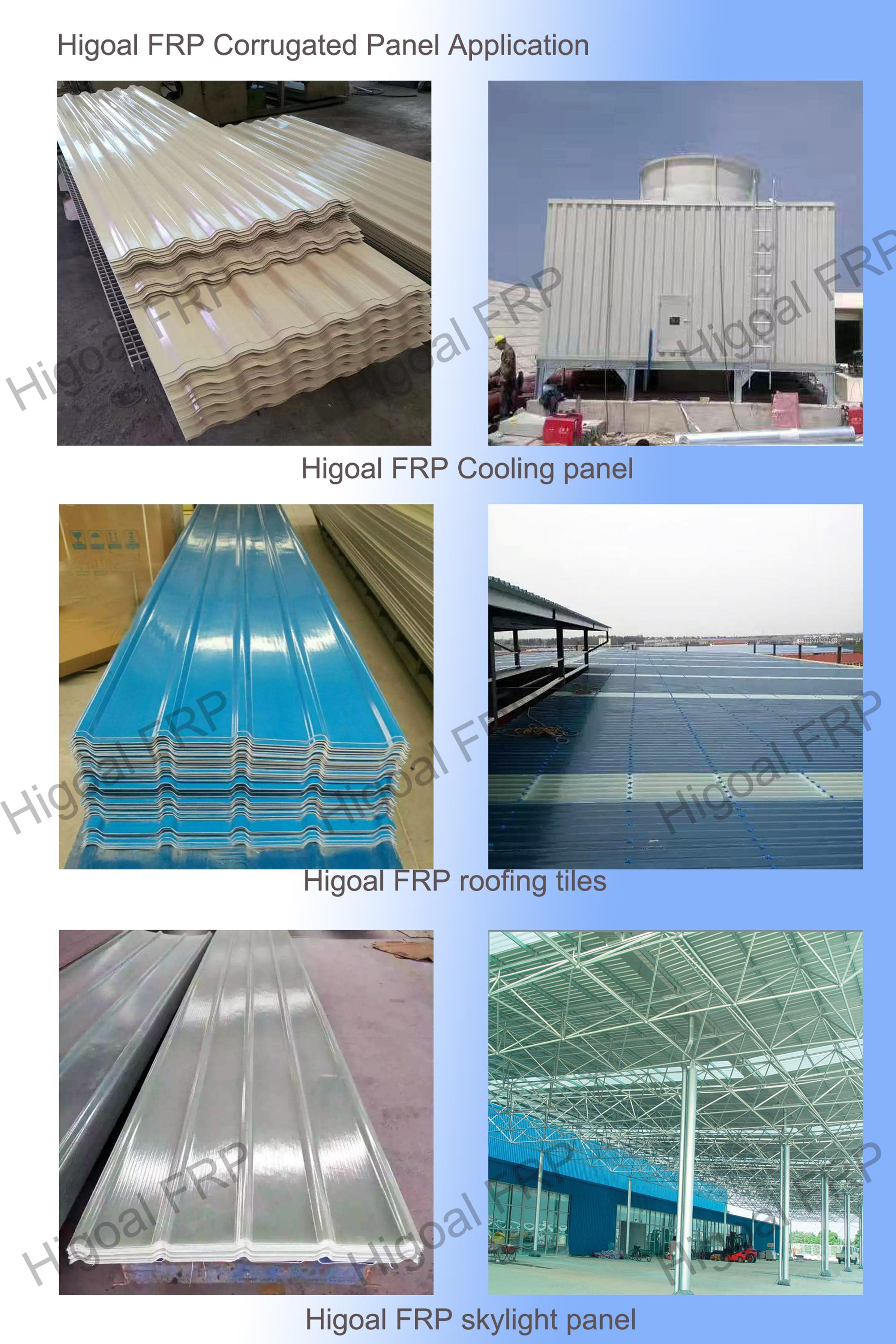 Translucent roofing sheet glassfiber skylight building panel