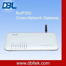 Radio over IP VoIP Cross-network Gateway with SIP Server and GSM Interface RoIP-302