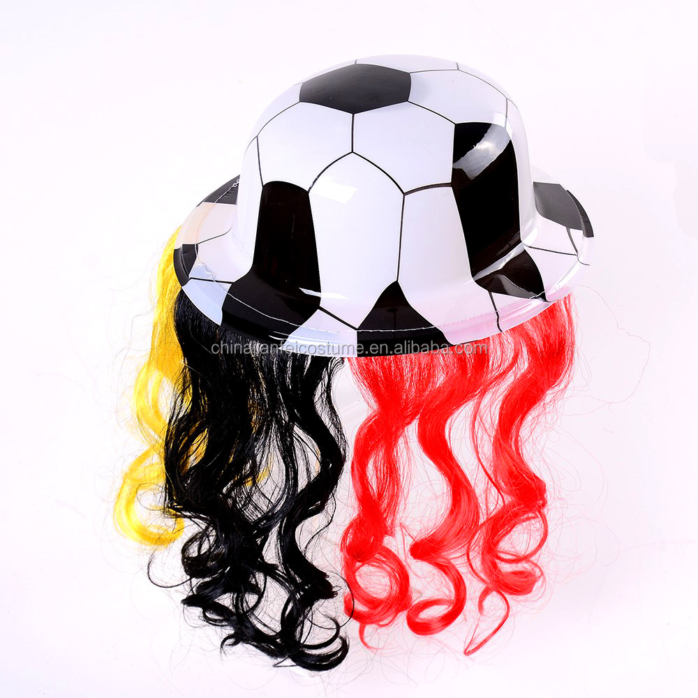Carnival supply round gentleman hat with football design for party decorations