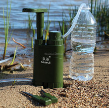 Outdoor Portable Water Purifier with fire flint Explorer Survival , Camping Hiking Outdoor Water Filter