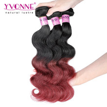 unprocessed virgin remy peruvian extension cheap ombre hair weaves