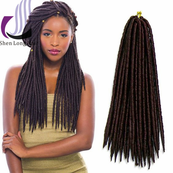 Afro twist crochet braids soft dread locks havana mambo faux locs synthetic braiding hair extension