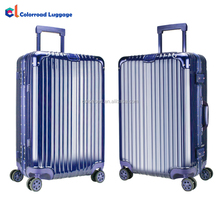 2017 Best Quality hot sell 4 spinner wheels PC+ABS wholesale customized aluminium metal frame trolley luggage