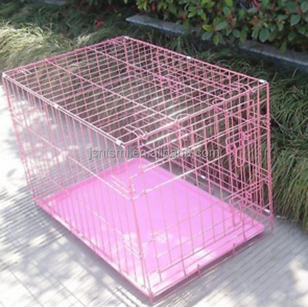 pets cage for dog pets house with plastic tray