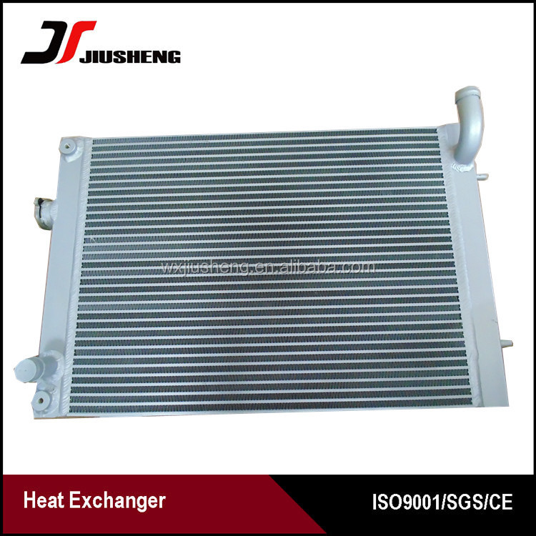 High quality water tank / auto tank radiator / oil cooler for excavator ,vacuum aluminum heat exchanger