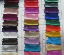 bright colorful stretch satin fabric for bridal garments