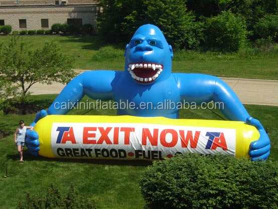 2016 new giant inflatable kong tube/ monkey / kingkong for advertising
