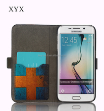 New Disign Painting Flag PU Leather Flip Wallet Flap Pouch Protective Cover with Stand Card Holder Case for Samsung Galaxy S6