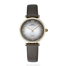 IBSO Wholesale Fashion Design Quartz Ladies Fancy Watches with leather band