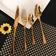 Gold Plated Stainless Steel Cutlery Sets for Wholesale