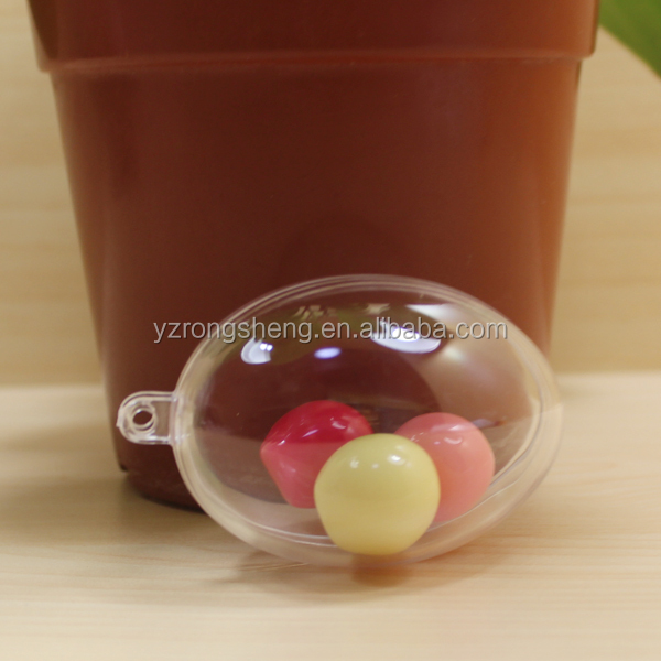 colored acrylic balls Plastic easter egg toy candy