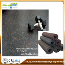 6mm, 8mm, 10mm Thick EPDM Freckled Rubber Flooring in Roll