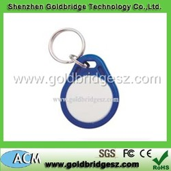 professional blank key rings fobs wholesale 125KHZ / 13.56MHZ with good quality