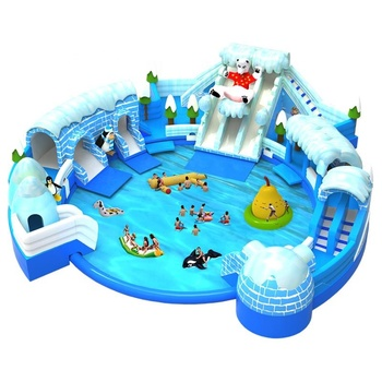 Ice N Snow World Giant Backyard Inflatable Water Slide Pools Parks Kids Adult Water Theme Amusement Park Equipment With Pool