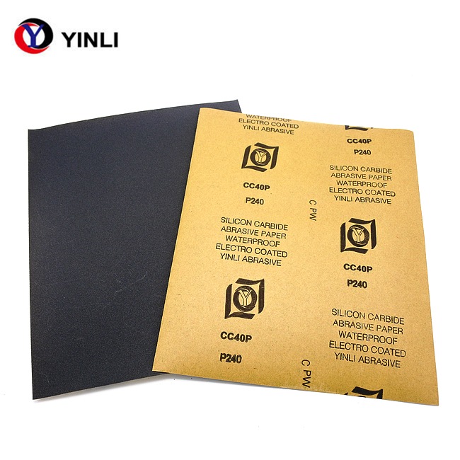 High quality 9*11inch <strong>p1000</strong> silicon carbide abrasive wet and dry sand paper