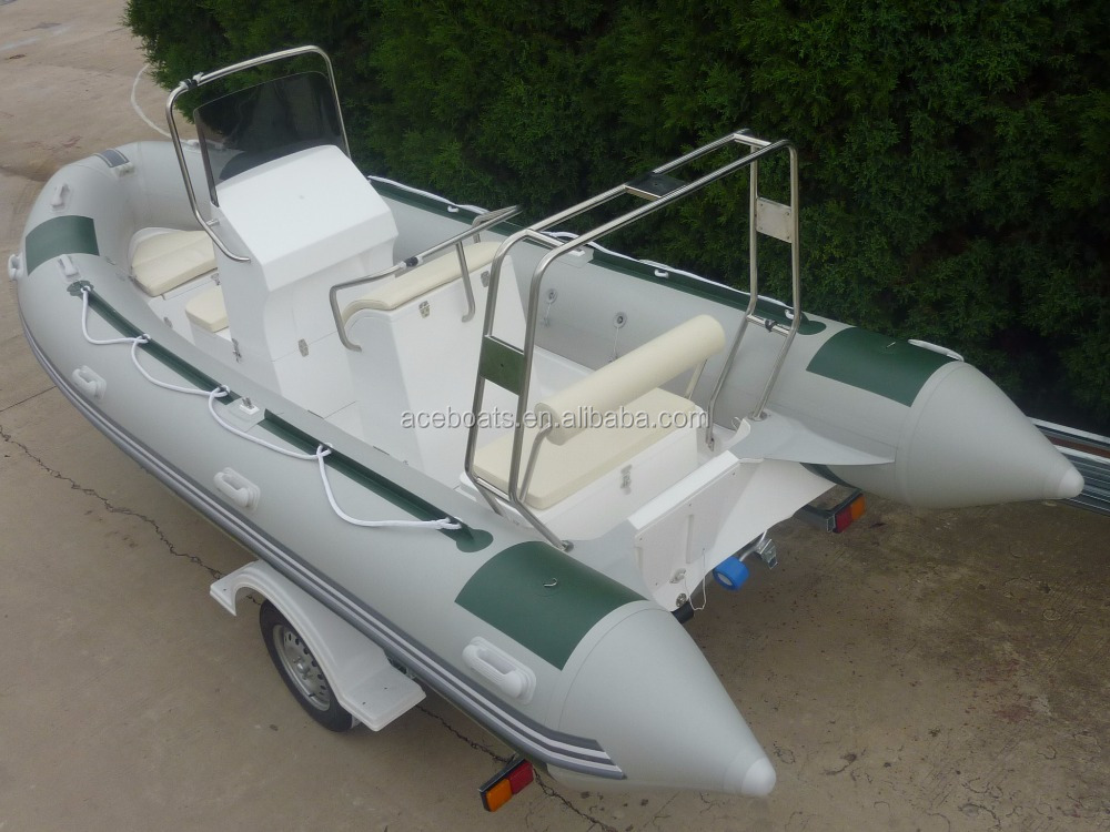 2015 new fashion Rigid Fiberglass RIB Boat used rigid inflatable boats rubber boat price for sale in camouflage