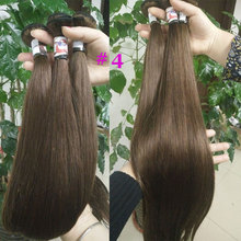 remy hair brazilian human hair sew in weave, kinky straight hair,unprocessed virgin straight hair customized two tones color