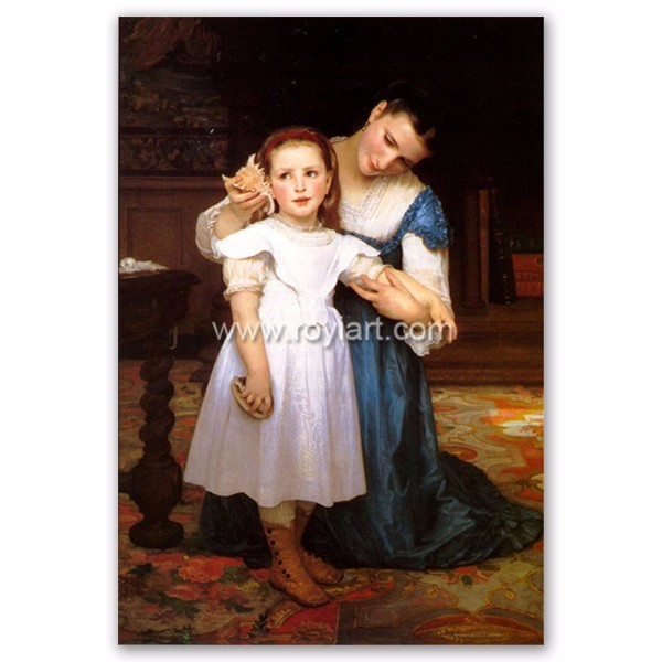 Handmade reproduction impressionist bouguereau oil painting