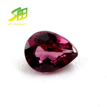 hot sale synthetic corundum synthetic ruby pear shape jewelry stone