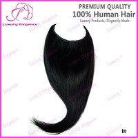 Jet Black 18 Inch Brazilian Human Hair Halo Hair Extensions Factory Wholesale