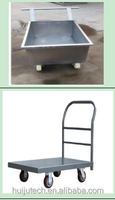 HUIJU CE Top-quality poultry farm tool trolley 4 wheel carry trolley logistic trolley