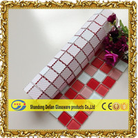 glass mixed mosaic red