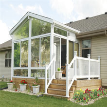 Enjoyable design luxury aluminum clear glass outdoor free standing sun room
