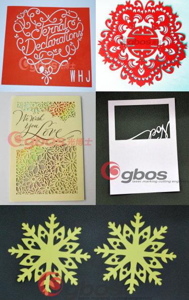 CO2 Galvo laser cutting paper machine paper cut machine laser cut invitation cards
