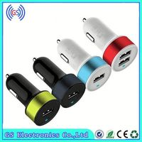 Portable Dual UDB Car Charger Dual Port Car USB Charger With LED Wholesale
