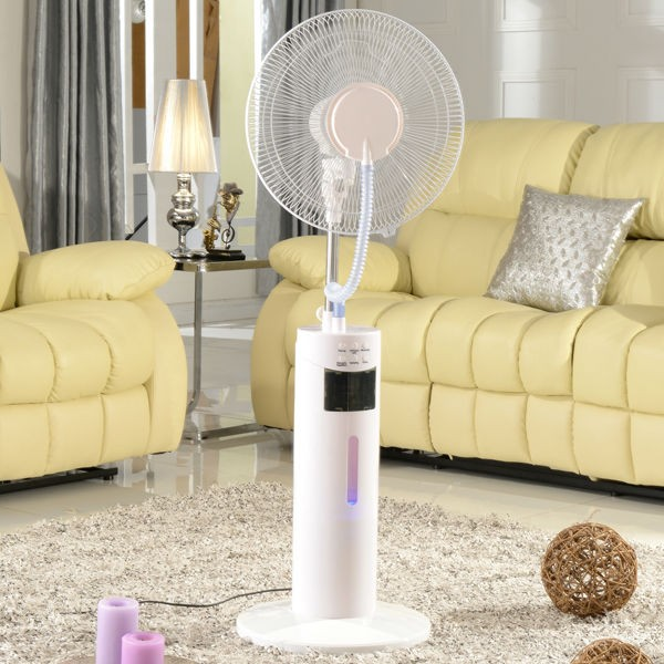 New design 16inch mist stand fan with plastic impeller blades remote control kdk ceiling fan