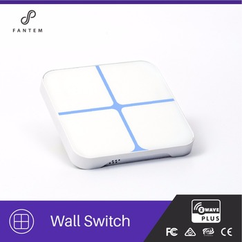 CE FCC ROHS Fantem Zwave Home Automation Products Touch Screen Light Panel/Switch