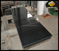 high quality black granite stone fireplace hearth