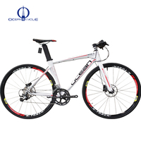 18 Speed Road Bike 700C size wheel racing bicycle with cross bar
