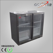 Stainless steel back bar bottle cooler