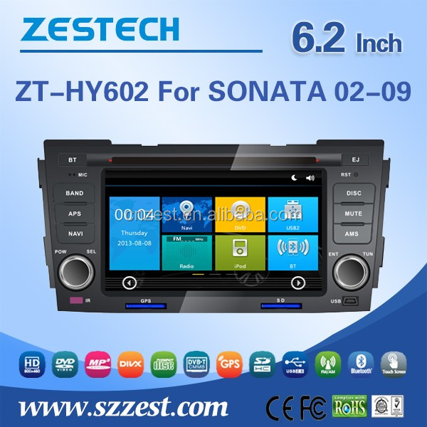 6.2 inch 2 din in-dash car dvd gps navigation system for Hyundai Sonata 2003 2004 2005 2006 2007 2008 car multimedia with USB/SD