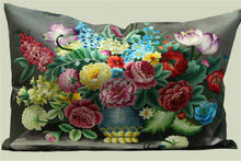 High Quality Luxury Silk embroidered Pillow cushion cover- Hand Embroidered Pillow cushion cover