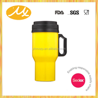 500ml red plastic inside and stainless steel outside insulated copper stainless steel coffee mugs auto mug MX-TR1181