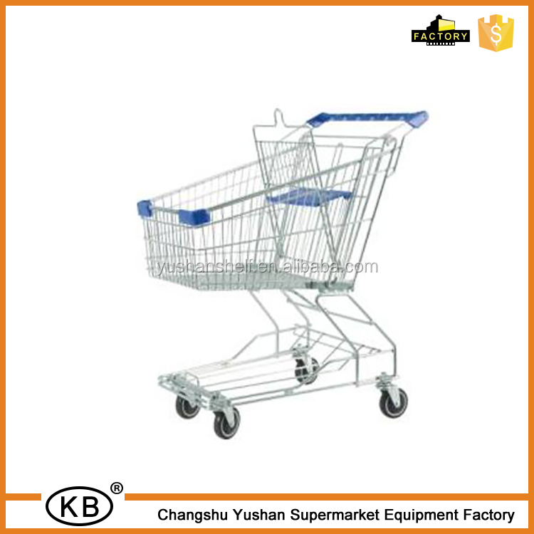 80L metal shopping trolley good price with baby seat