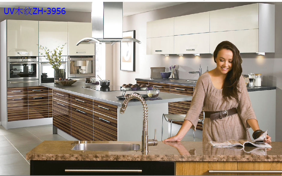 Famous Brand ZHUV New Product High End Luxury Wood designs of Kitchen hanging Cabinet /modular kitchen designs