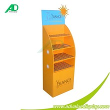 Temporary Point of Purchase sunscreen floor stand display/ cardboard sunscreen dislay stand