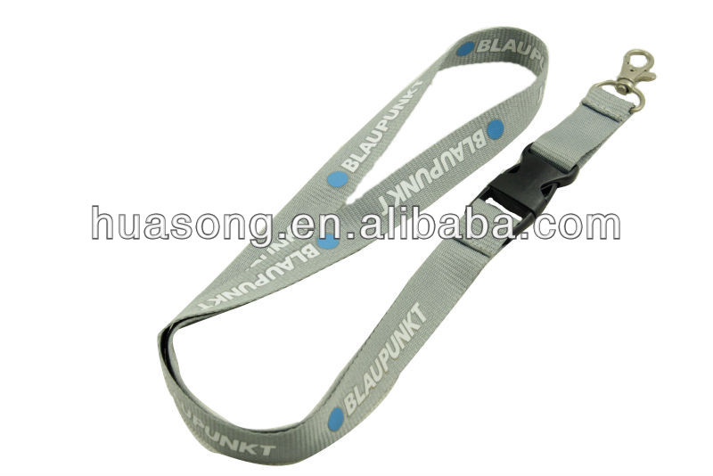 Customized Cheap cotton Silk Screen Printing Lanyard no minimum order
