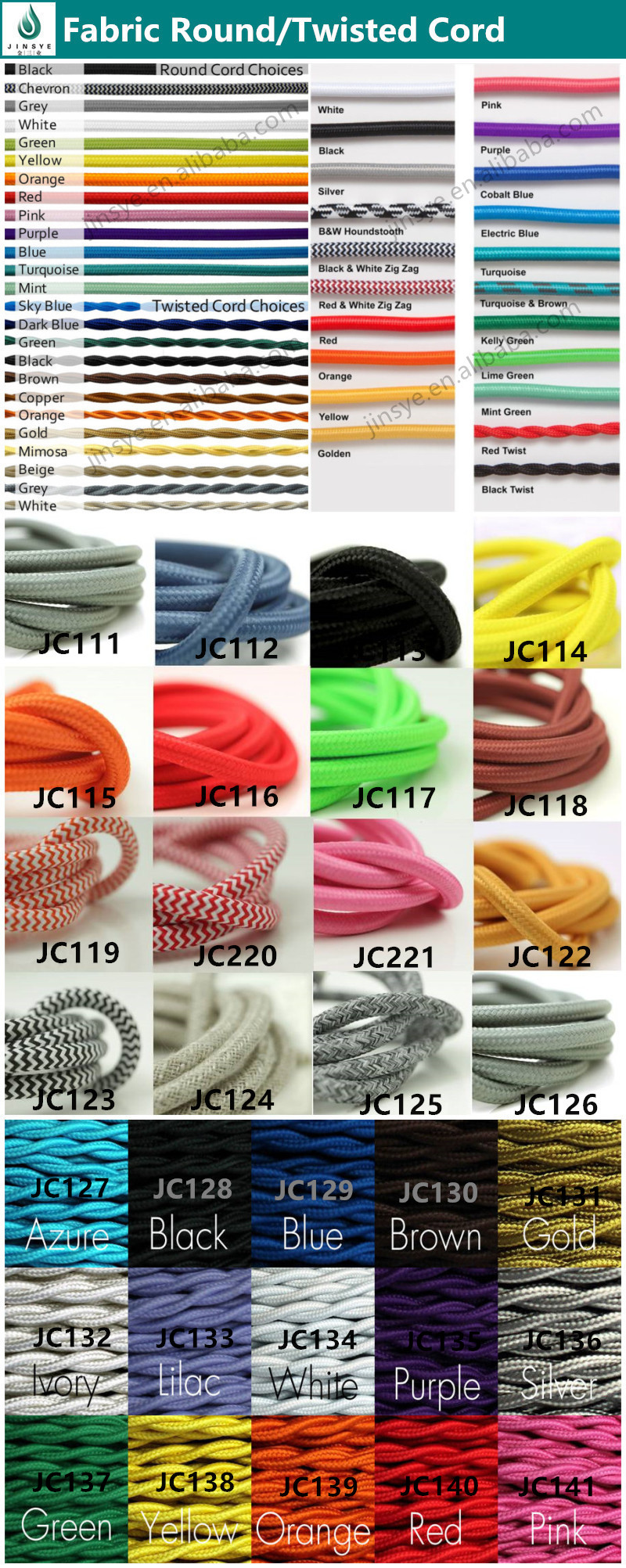 decorative lighting fabric cable cotton textile cable braided Electrical Wire