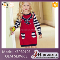 New arrival Children clothing girl wool sweater dress on 2017