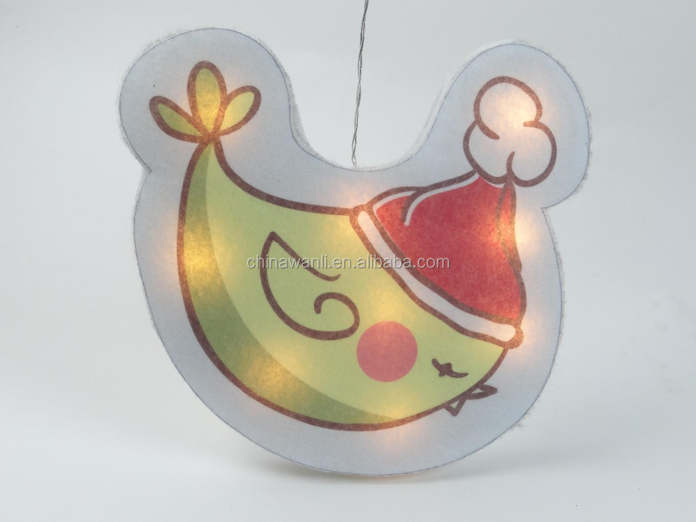 new window decoration hard cotton christmas light hen