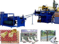 plastic square mesh production line
