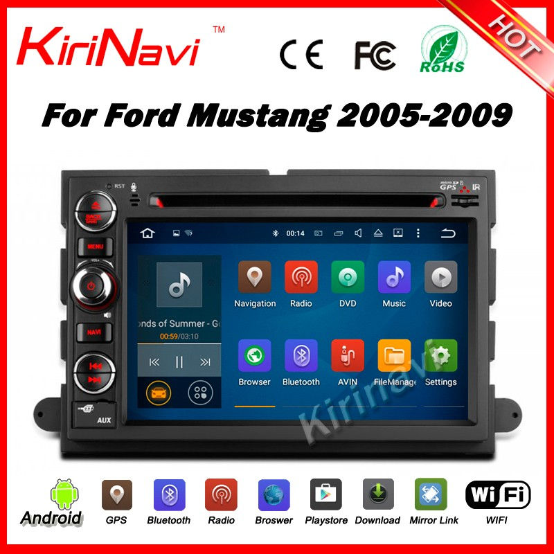 Kirinavi WC-FU7302 android 5.1 car multimedia for ford mustang 2005 - 2009 car dvd player navigation system audio wifi 3g