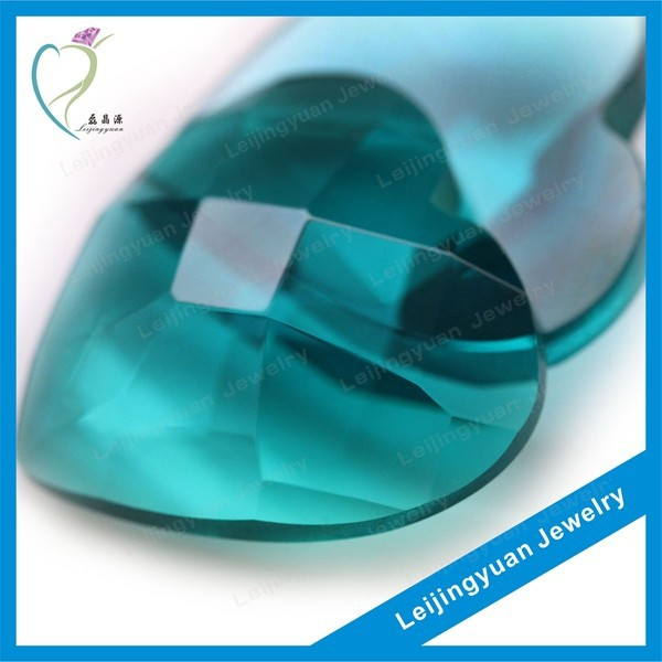 Heart rough gemstone glass cabochon wholesale