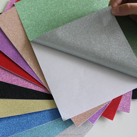 Colorful adhesive stickers glitter paper