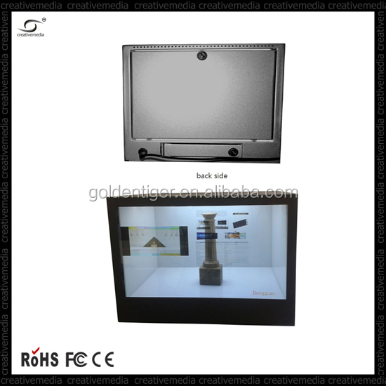 29 inch 1080P HD display advertising display box /transparent LCD video display with multi touch panel optional